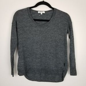 Madewell high low long sleeve sweater